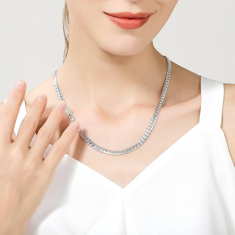Women's Silver Plated Chain Necklace Necklaces ba2a9c6c8c77e03f83ef8b: 45cm|50cm|60cm
