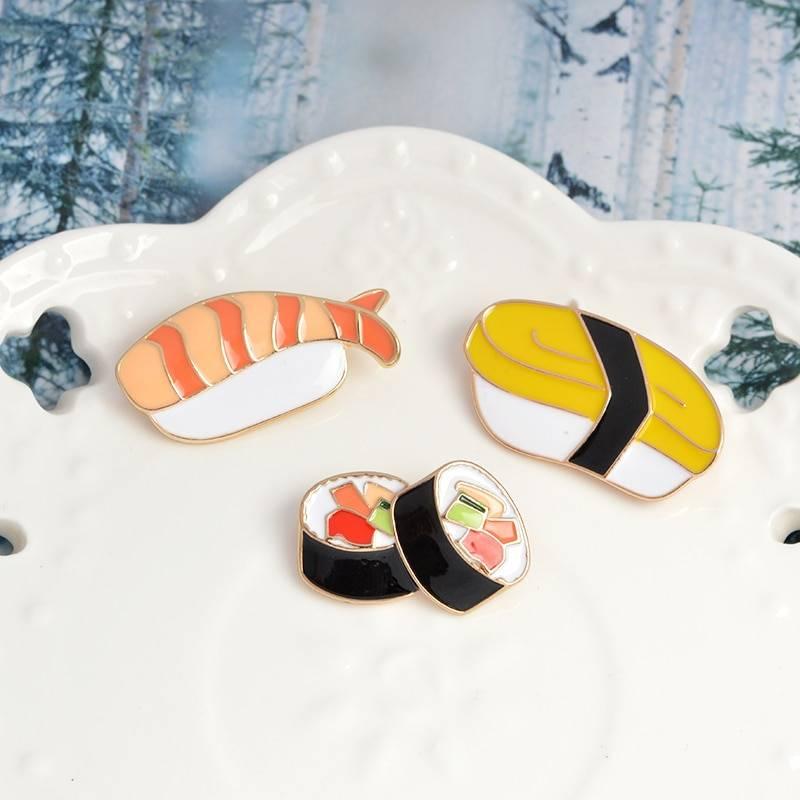 Women's Sushi Shaped Brooches 3 pcs Set