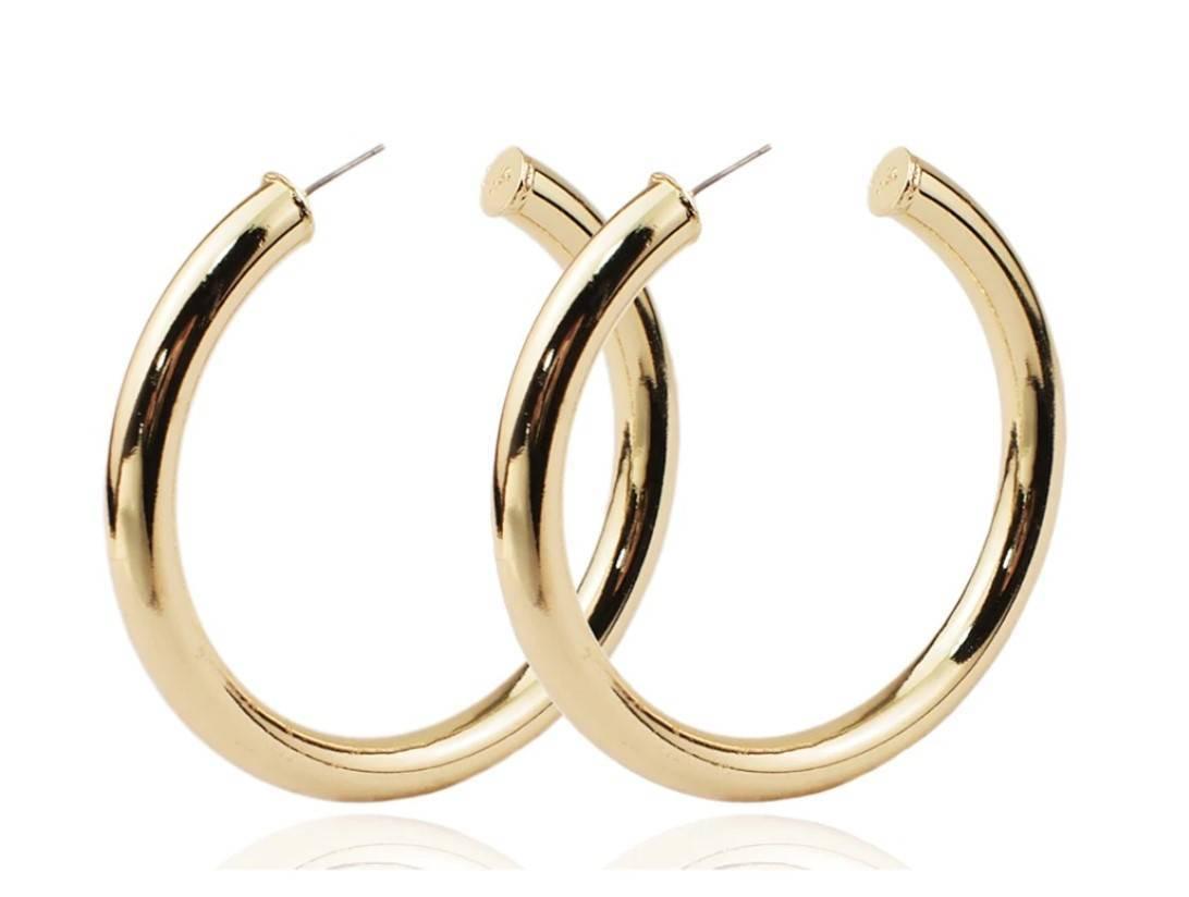 Women's Wide Hoop Earrings Earrings 8d255f28538fbae46aeae7: L Gold|L Silver|M Open Gold|M Open Silver|S Gold|S Silver