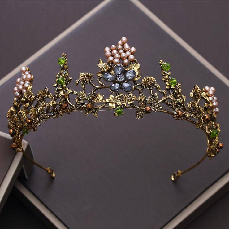 Zinc Hair Tiara in Plant Shaped Hair Jewelry