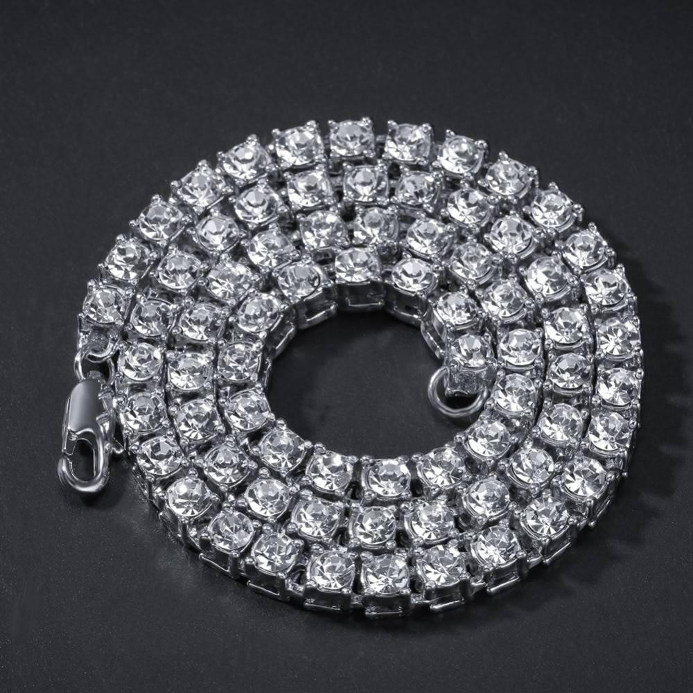 Unisex Full Rhinestones Decorated Jewelry Sets