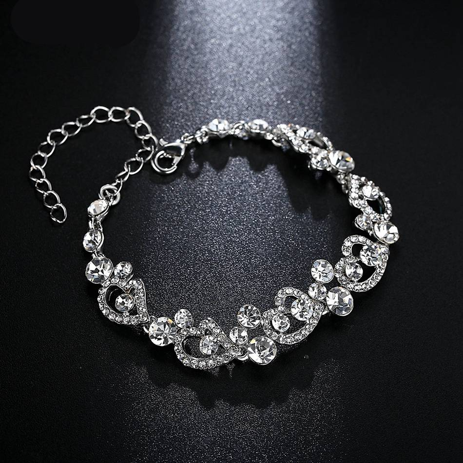 Heart Shaped Design Crystal Wedding Jewelry Set