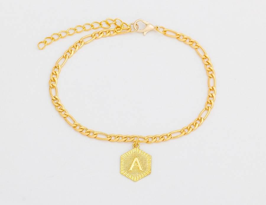 Alphabet Letter Leg Bracelets