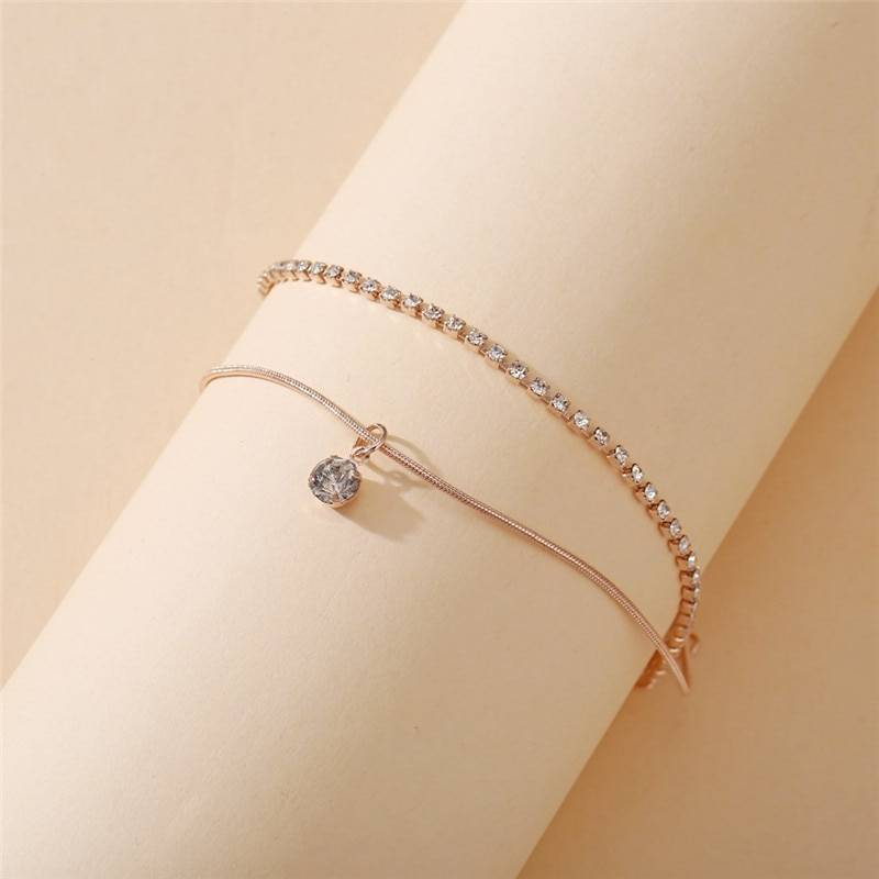 Anklet with Bohemian Style Beads Anklets 8d255f28538fbae46aeae7: Gold