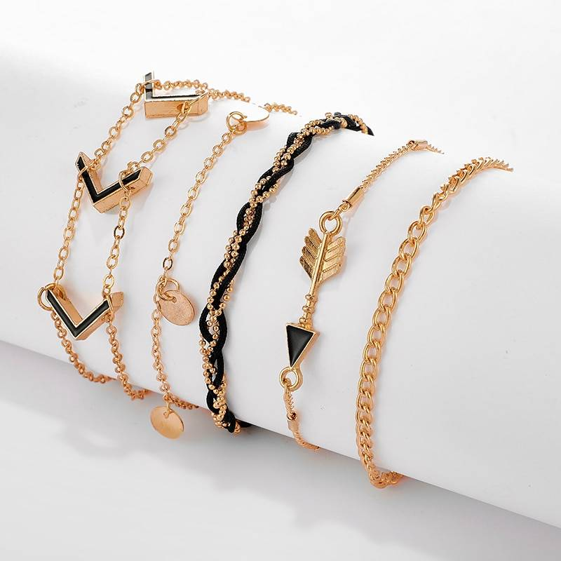 Black Arrow Anklets for Women Anklets 8d255f28538fbae46aeae7: Gold