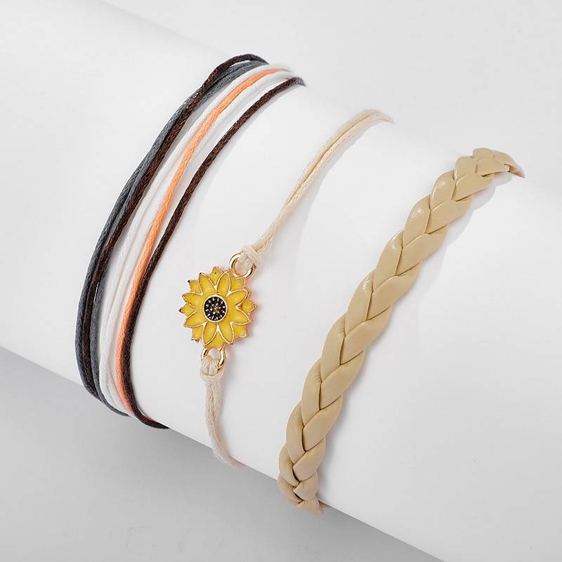 Bohemia Sunflower Charm Anklets