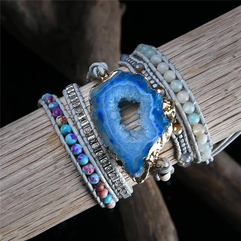 Boho Bracelet with Natural Stones for Women Bracelets 8d255f28538fbae46aeae7: as Picture|Customized