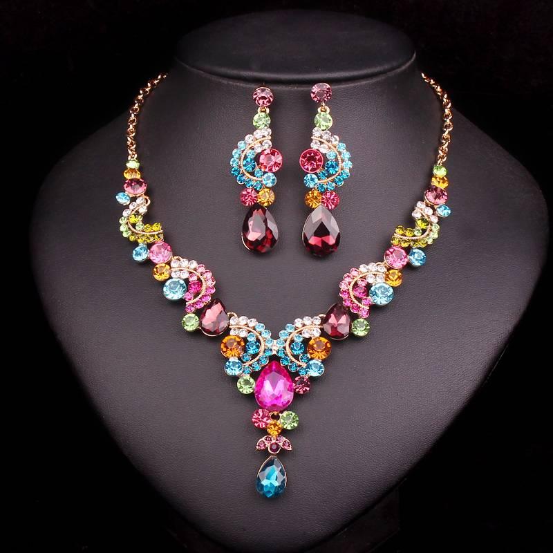 Fashion Crystal Jewelry Sets