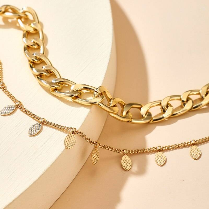 Fashion Gold Pendant Anklet