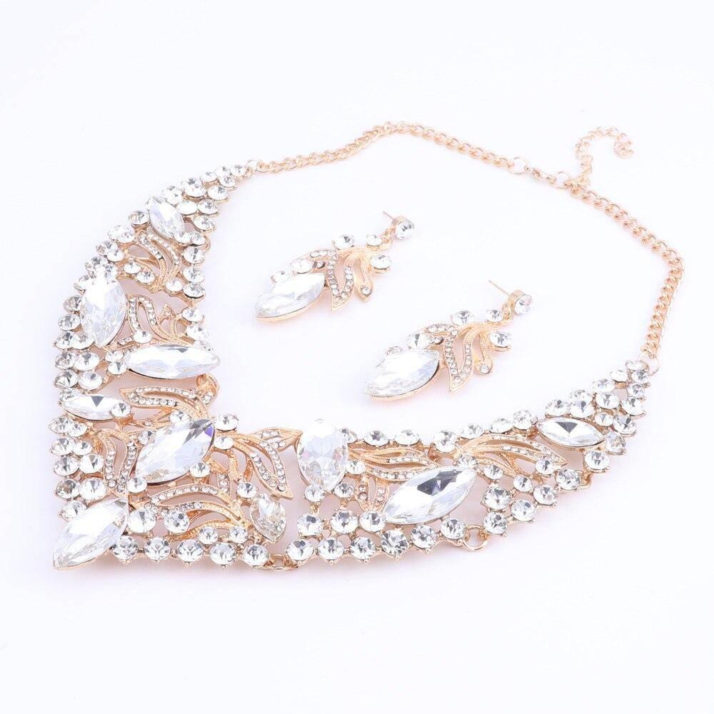 Fashion Rhinestone Crystal Jewelry Set Jewelry Sets a4a426b9b388f11a2667f5: Blue|Green|Multi|Red|White