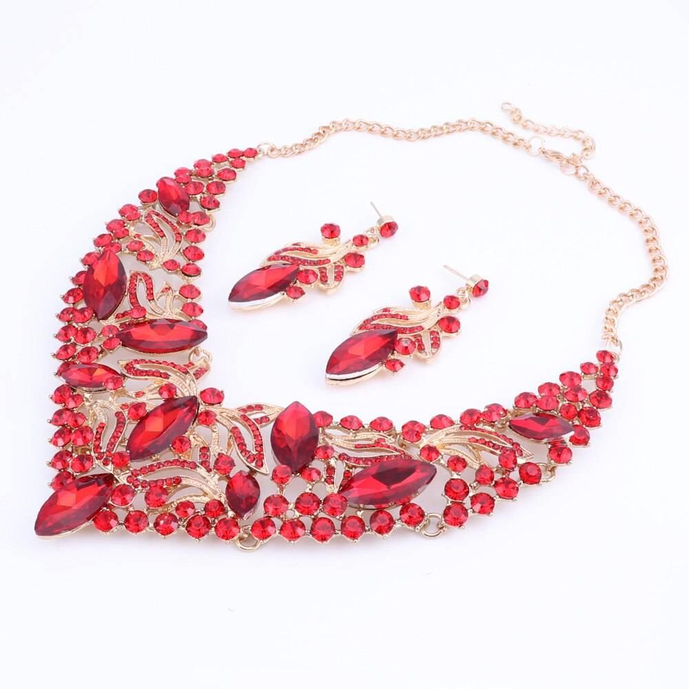 Fashion Rhinestone Crystal Jewelry Set