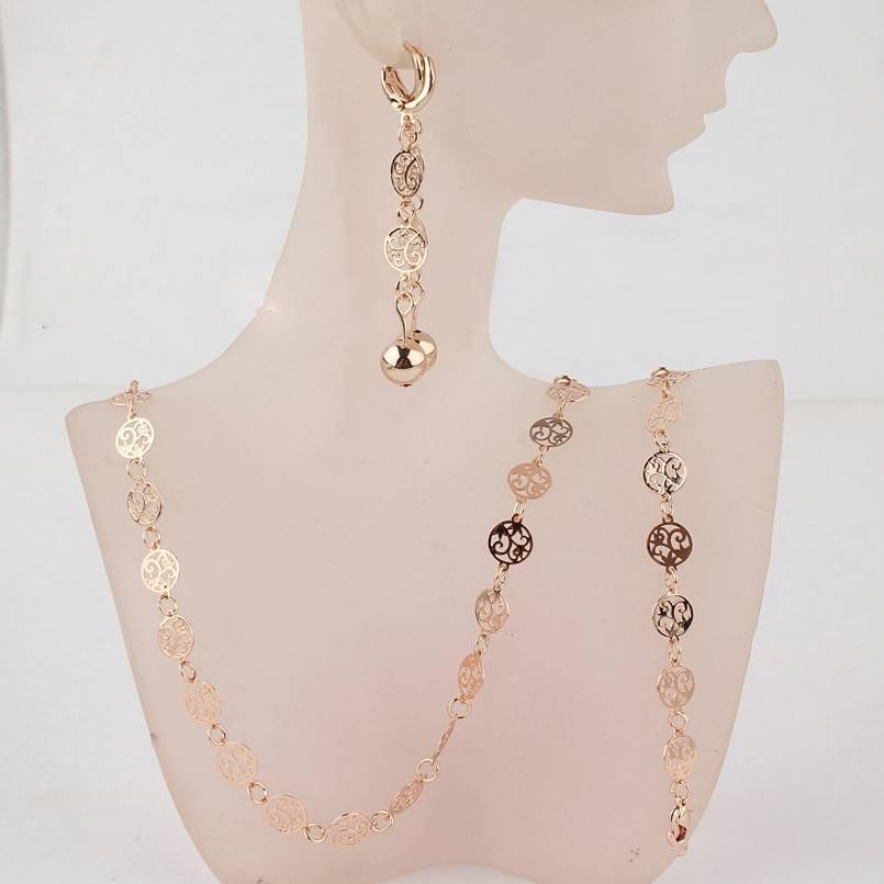 Gold Flower Jewelry Set Jewelry Sets