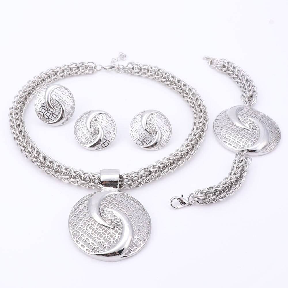 Luxury Gold / Silver Plated Jewelry Set