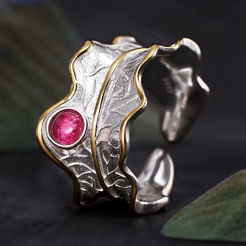 Resizable Lotus Shaped Boho Ring Rings 2ced06a52b7c24e002d45d: Resizable