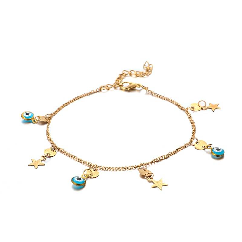 Star Charm Anklets for Ladies Anklets 8d255f28538fbae46aeae7: Gold