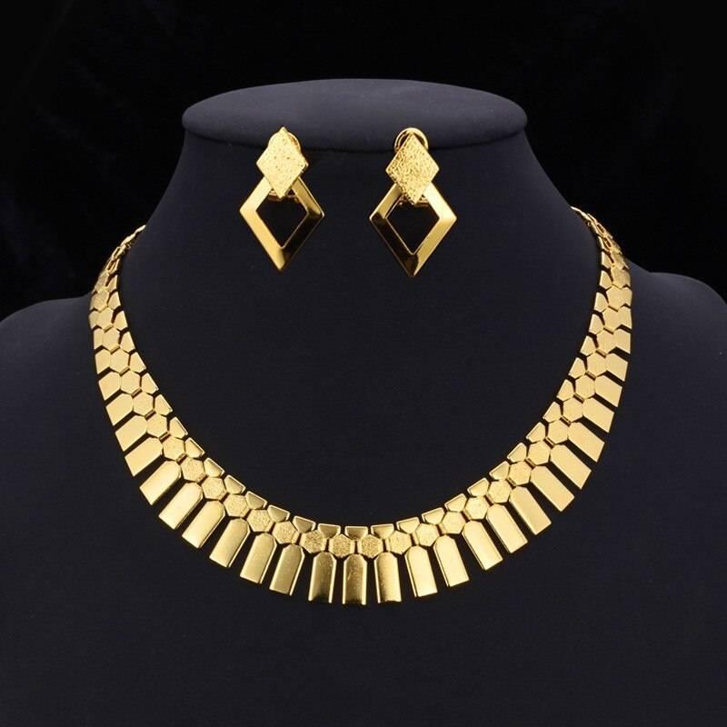 Vintage Geometric Style Women's Jewelry Set