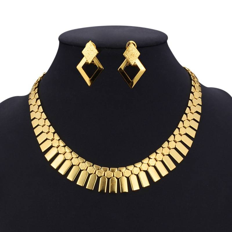 Vintage Geometric Style Women's Jewelry Set Jewelry Sets 8d255f28538fbae46aeae7: Gold|Silver