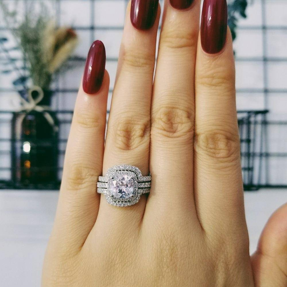 Women's 925 Sterling Silver Multilayer Ring Rings 2ced06a52b7c24e002d45d: 10|5|6|7|8|9