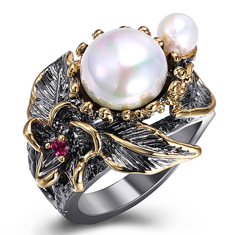 Women's Artistic Black Ring Rings 2ced06a52b7c24e002d45d: 7|8|9