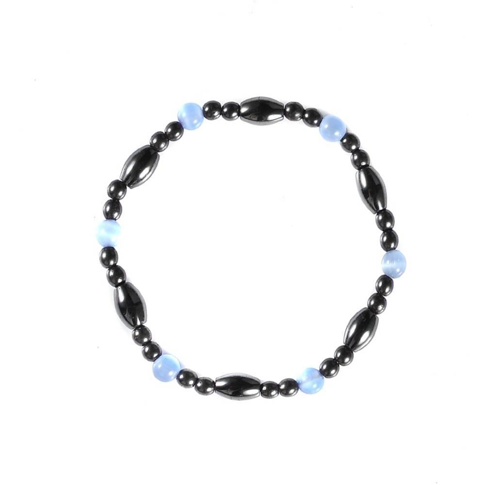 Women's Cat Eye Beaded Magnetic Bracelet Bracelets cb5feb1b7314637725a2e7: Blue Black
