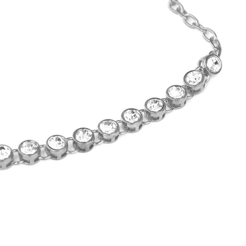 Women's Crystal Chain Anklet Anklets 8d255f28538fbae46aeae7: Golden Pair|Golden, 1 Pcs