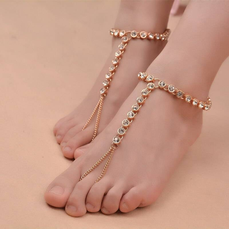 Women's Crystal Chain Anklet