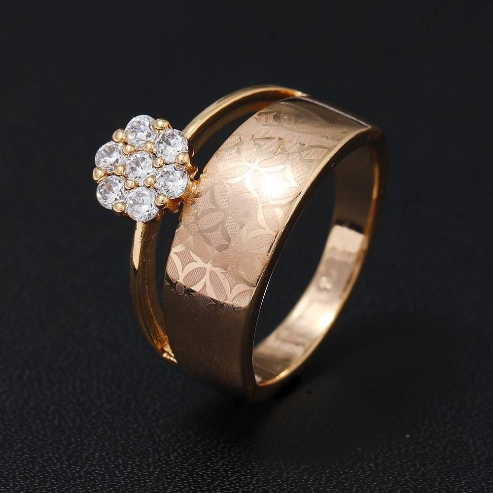 Women's Double Layer Crystal Ring Rings 2ced06a52b7c24e002d45d: 6|7|8|9