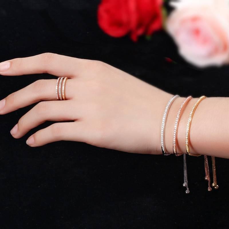Women's Elegant Bangle Bracelet Bracelets 8d255f28538fbae46aeae7: Rose Gold|Silver|yellow gold