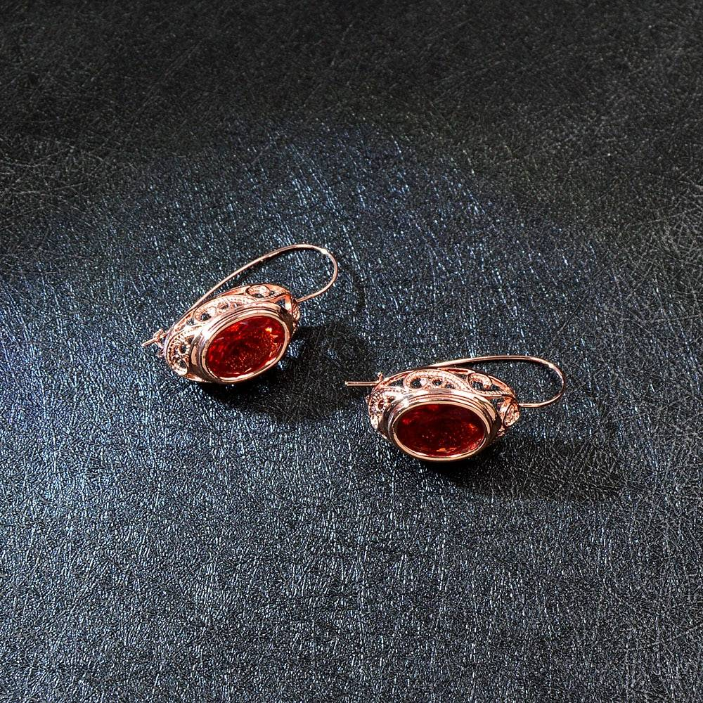 Women's Red Crystal Jewelry Sets