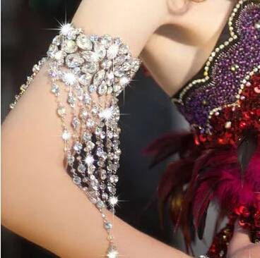 Women's Shiny Armband with Crystals Body Jewelry