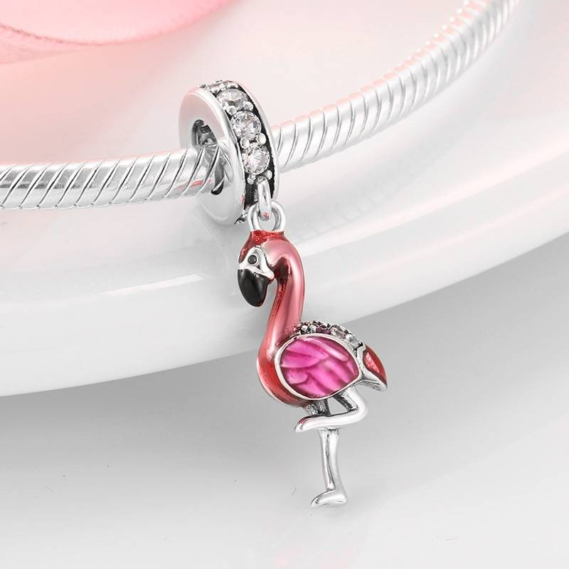 Women's Sterling Silver Flamingo Bracelet Charm Bracelets cb5feb1b7314637725a2e7: 1 2 3 4 5 6 7 8